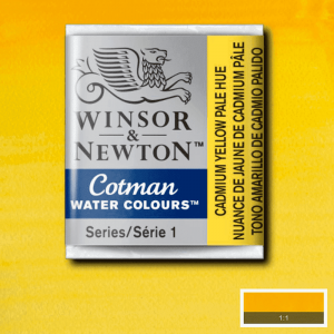 Aquarela Cotman W&N Pastilha 119 Cadmium Yellow Pale Hue