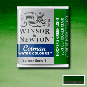 Aquarela Cotman W&N Pastilha 314 Hooker's Green Light
