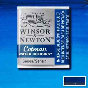 Aquarela Cotman W&N Pastilha 327 Intense Blue (Phthalo Blue)
