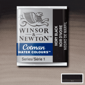 Aquarela Cotman W&N Pastilha 331 Ivory Black