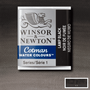 Aquarela Cotman W&N Pastilha 337 Lamp Black