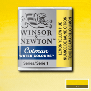 Tinta Aquarela Cotman W&N Pastilha 346 Lemon Yellow Hue