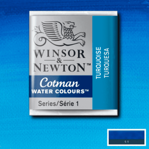 Aquarela Cotman W&N Pastilha 654 Turquoise