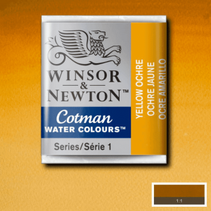 Aquarela Cotman W&N Pastilha 744 Yellow Ochre
