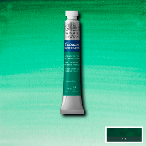 Aquarela Cotman W&N Tubo 8ml 329 Intense Green (Phthalo Green)