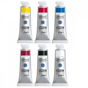 Tinta Guache Lefranc & Bourgeois Linel 14ml 6 Cores