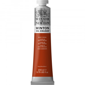Tinta Óleo Winton 200ml Winsor & Newton 074 Burnt Sienna