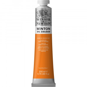 Tinta Óleo Winton 200ml Winsor & Newton 090 Cadmium Orange Hue