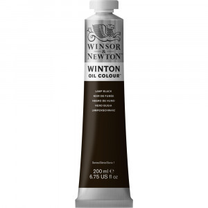 Tinta Óleo Winton 200ml Winsor & Newton 337 Lamp Black