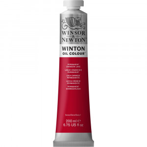 Tinta Óleo Winton 200ml Winsor & Newton 478 Permanent Crimson Lake