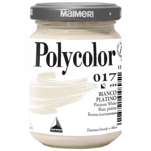Tinta Acrílica Polycolor Maimeri 140ml 017 Platinum White