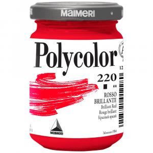 Tinta Acrílica Polycolor Maimeri 140ml 220 Brilliant Red