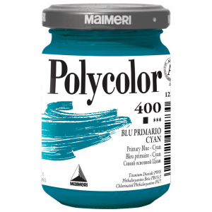 Tinta Acrílica Polycolor Maimeri 140ml 400 Primary Blue Cyan