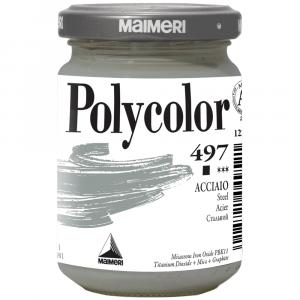Tinta Acrílica Polycolor Maimeri 140ml 497 Steel