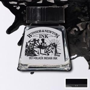 Tinta para Desenho Winsor & Newton 14ml Black Indian 030