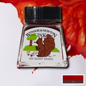 Tinta para Desenho Winsor & Newton 14ml Burnt Sienna 074