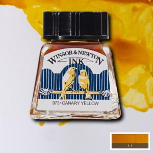 Tinta para Desenho Winsor & Newton 14ml Canary Yellow 123
