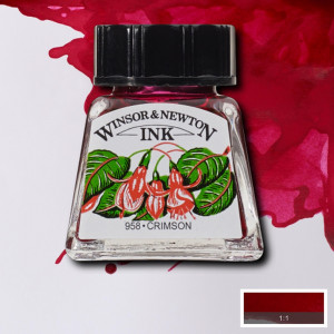 Tinta para Desenho Winsor & Newton 14ml Crimson 203