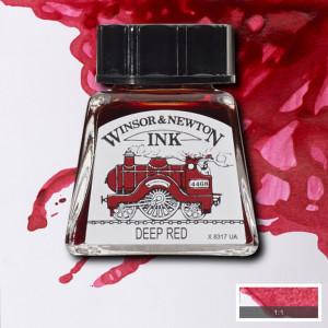 Tinta para Desenho Winsor & Newton 14ml Deep Red 227