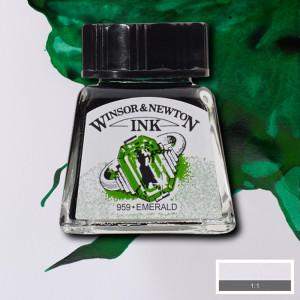 Tinta para Desenho Winsor & Newton 14ml Emerald 235