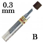 Mina Grafite Pentel 0.3mm B