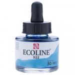 Aquarela Líquida Ecoline Talens 30ml 522 Turquoise Blue