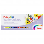 Tinta Aquarela Pentel Bisnaga 15 Cores