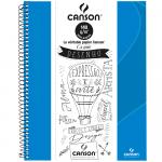 Caderno Para Desenho Canson A4 40 Folhas - Azul Claro
