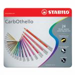 Lápis Pastel Aquarelável Carbothello Stabilo 24 Cores