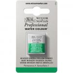 Tinta Aquarela Profissional Winsor & Newton Pastilha S1 721 Winsor Green (Yellow Shade)