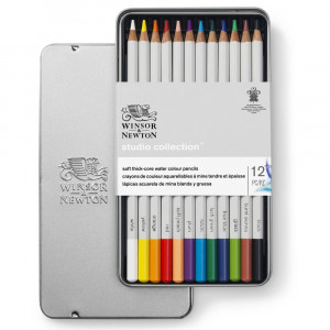 Lápis Aquarelável Winsor & Newton Studio Collection 12 Cores