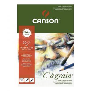 Bloco de Papel C à Grain Canson 224g/m² A5