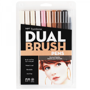 Caneta Pincel Dual Brush Tombow 10 Cores Retrato