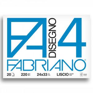 Bloco de Papel Fabriano 4L 220g/m² 24x33cm 20 Folhas