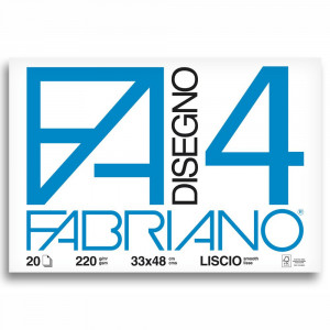 Bloco de Papel Fabriano 4L 220g/m² 33x48cm 20 Folhas