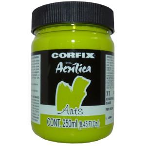 Tinta Acrílica Fosca Corfix Arts 250ml  77 Verde Inglês Claro G1