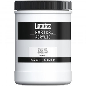 Tinta Acrílica Liquitex Basics 946ml 432 Titanium White
