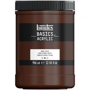 Tinta Acrílica Liquitex Basics 946ml 128 Burnt Umber