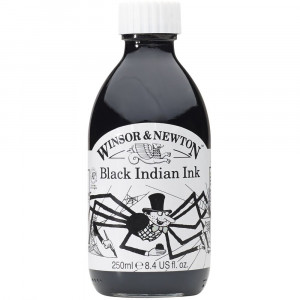 Tinta Nanquim Winsor & Newton 250ml Black Indian Ink