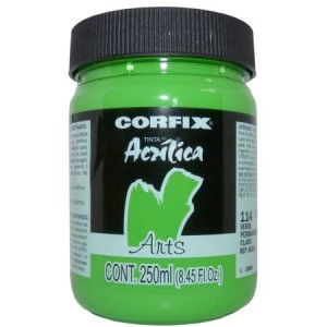 Tinta Acrílica Fosca Corfix Arts 250ml 114 Verde Perm. Claro G1