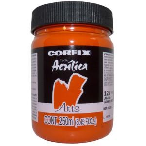 Tinta Acrílica Fosca Corfix Arts 250ml 126 Laranja Cádmio (IMIT)