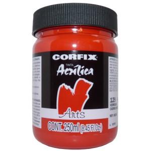 Tinta Acrílica Fosca Corfix Arts 250ml 129 Vermelho Cádmio (IMIT