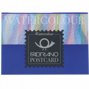 Bloco de Papel Para Aquarela Postcard Watercolor Fabriano 300g/m² 10,5x14,8cm