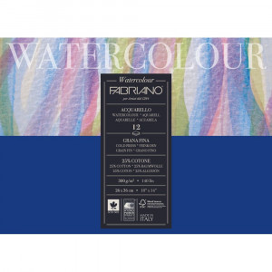 Bloco de Papel Para Aquarela Watercolor Fabriano GF 300g/m² 26x36cm