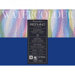 Bloco de Papel Para Aquarela Watercolor Fabriano GF 300g/m² 36X48cm