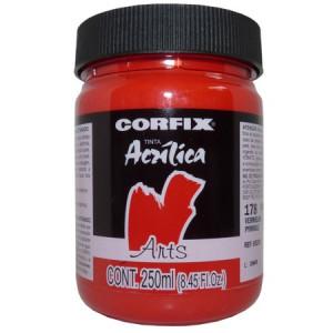 Tinta Acrílica Fosca Corfix Arts 250ml 178 Vermelho Pyrrole G1