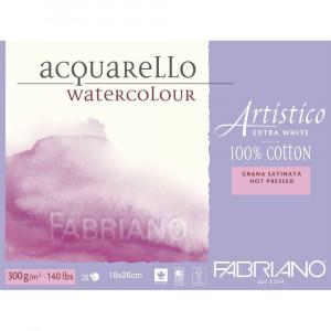 Bloco de Papel Para Aquarela Acquarello Fabriano Satinado 300g/m² 18x26cm