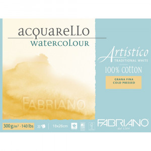 Bloco de Papel Para Aquarela Acquarello Fabriano GF 300g/m² 18x26cm
