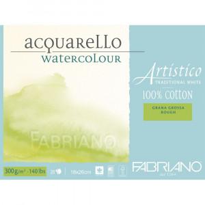 Bloco de Papel Para Aquarela Acquarello Fabriano GG 300g/m² 18x26cm