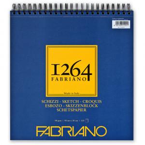Bloco de Papel Fabriano 1264 Sketch 90g/m² 30x30cm 120 Folhas